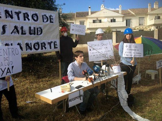 Foto Jaime espinar reivind centro salud zona norte