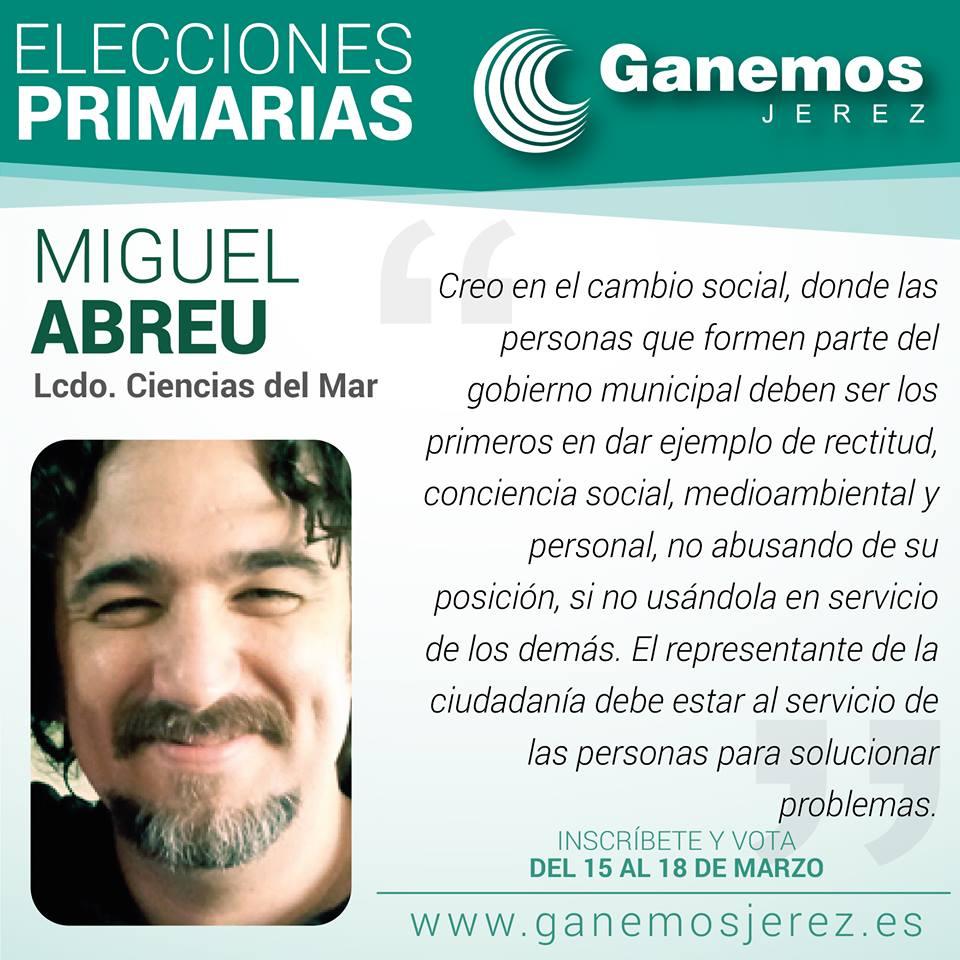Ganemos Jerez - Miguel Abreu