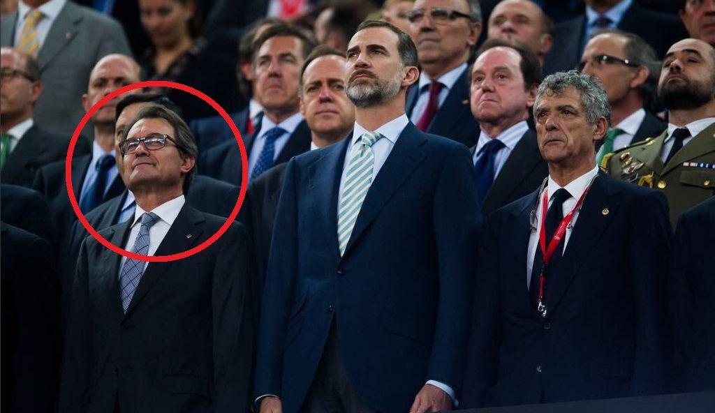 Artur Mas pitada himno en Copa del Rey