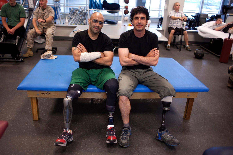 Última imagen de Joao Silva, en la imagen con Emilio Morenatti