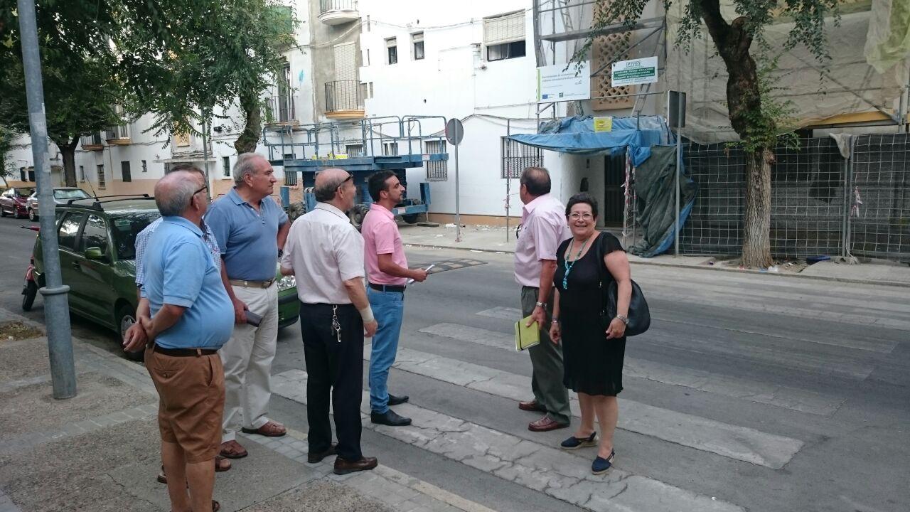 Visita a la Plata del concejal José Antonio Díaz antes del comienzo de las obras de Aqualia
