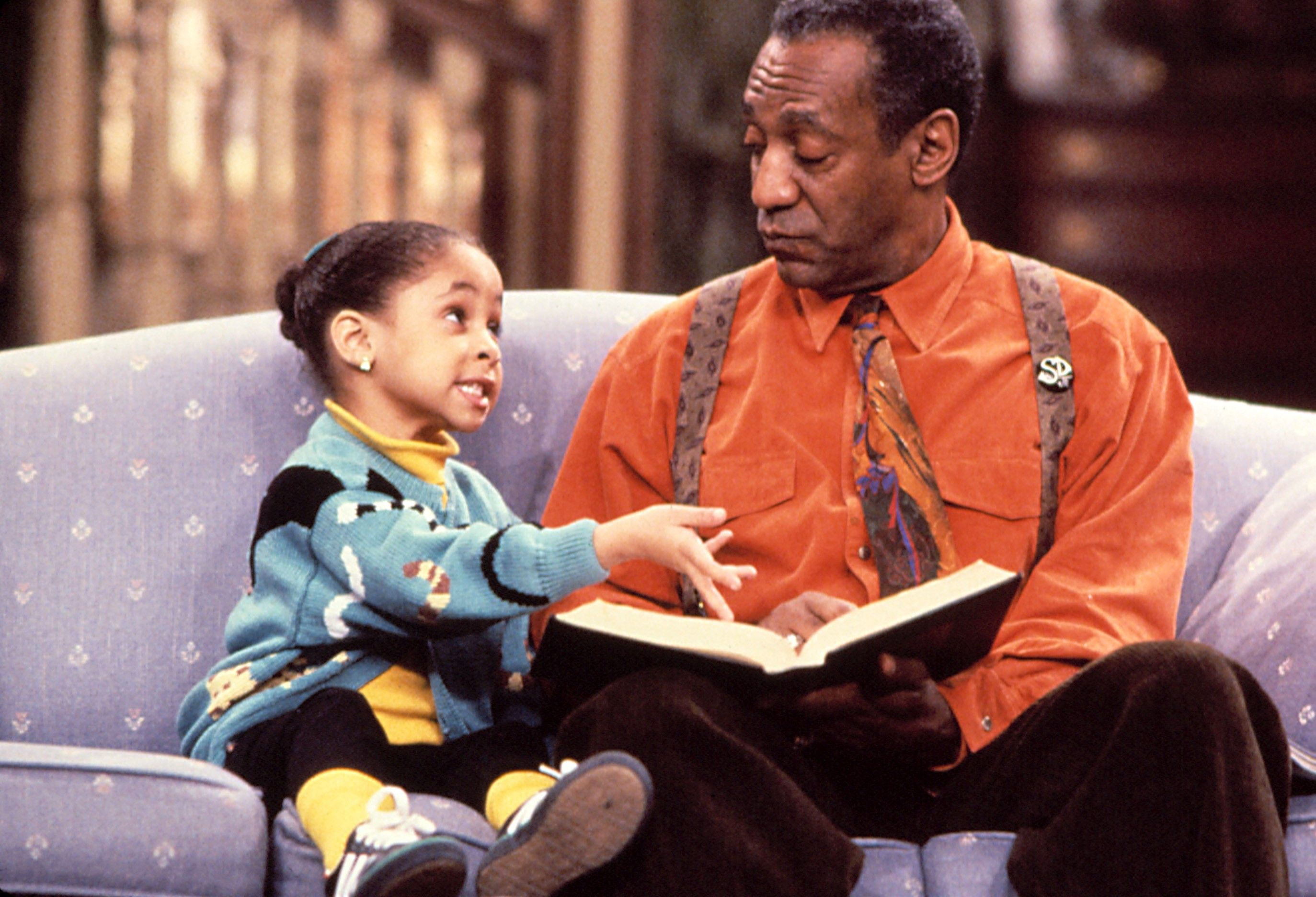 THE COSBY SHOW,  Raven-Symone, Bill Cosby, Yr.6, 1989-1990. (c)Carsey-Werner Co. Courtesy: Everett Collection.
