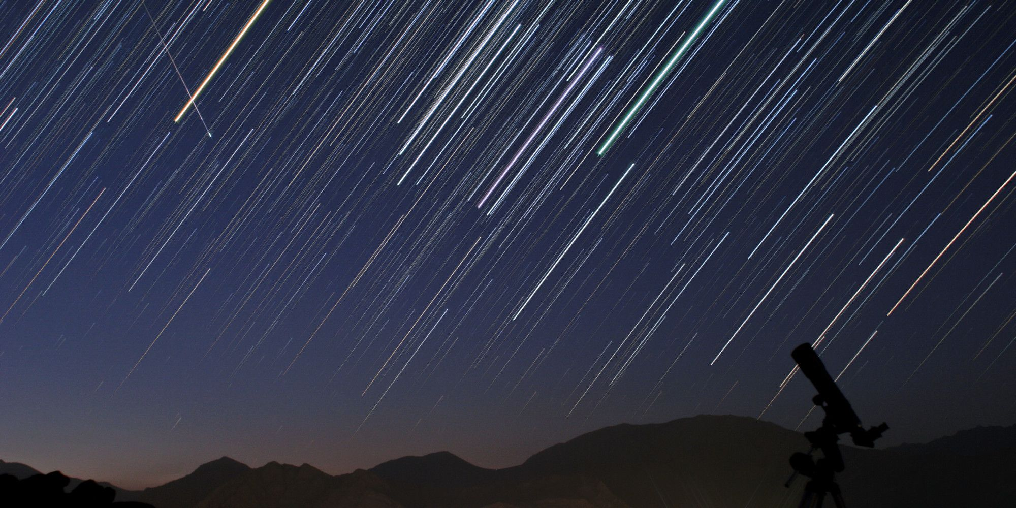 UNSPECIFIED - SEPTEMBER 07:  A bright meteor during Perseid meteor shower (Aug. 12) is captured in a star trail image of constellation Orion.  (Photo by Babek Tafreshi/SSPL/Getty Images)