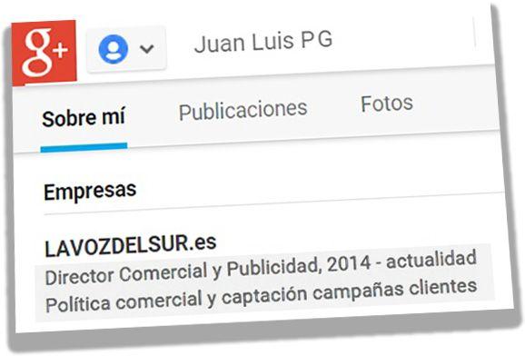 Ficha Google+ Juan Luis PG