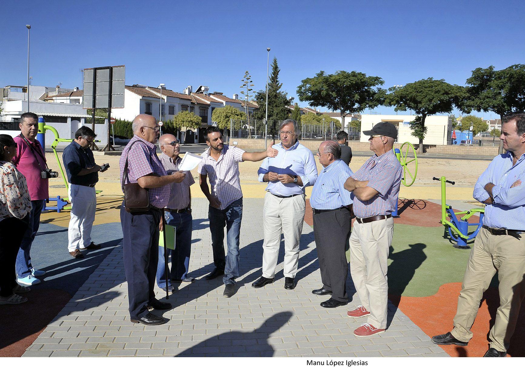 Fco Camas y Jose Antonio Diaz visitan Parque La Marquesa _ 01