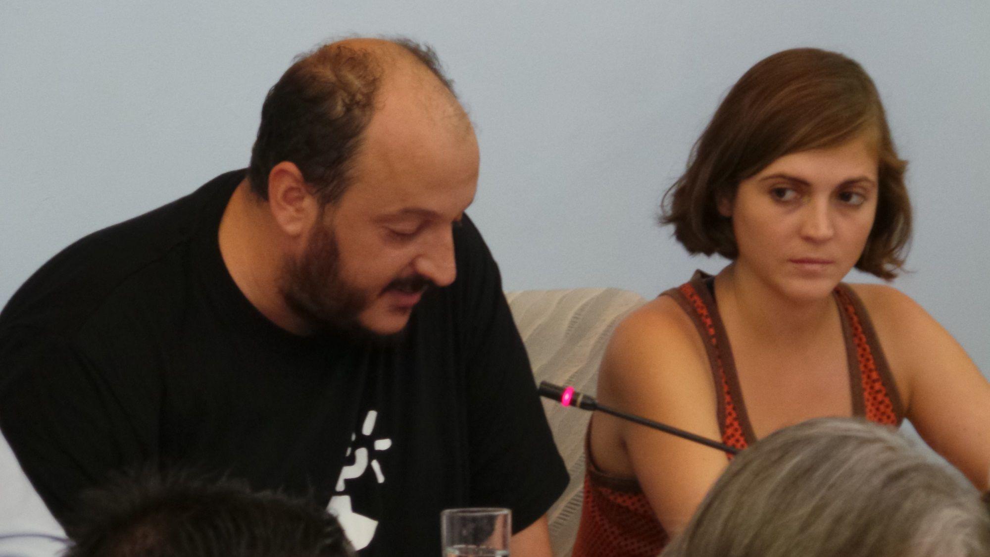 Raúl Ruiz Berdejo junto a Ana Fernández en un moemnto del pleno   30 de Julio