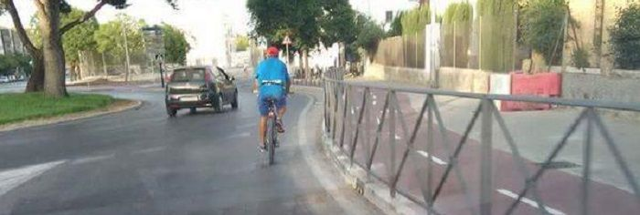 Carril bici sin utilizar