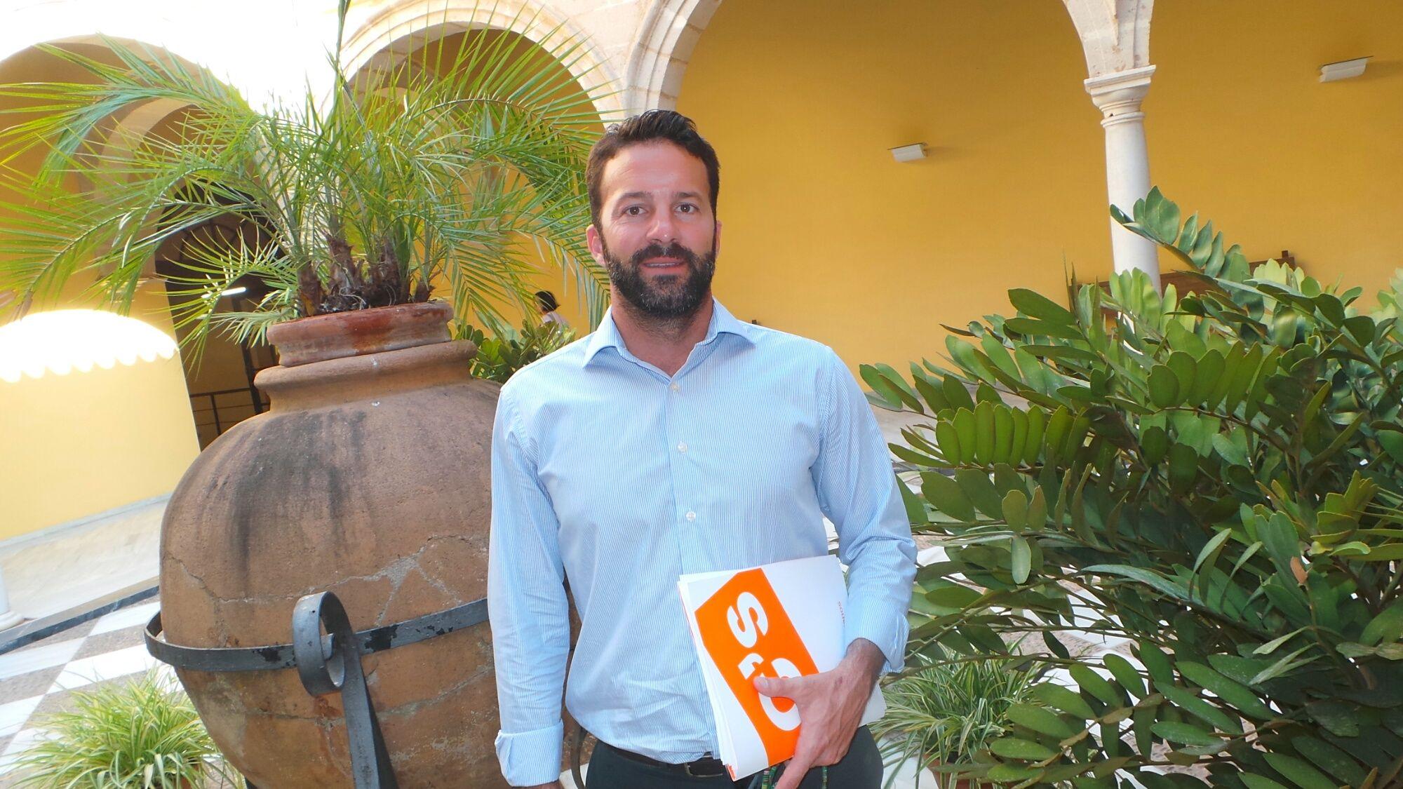 Carlos Pérez, coordinador local de Ciudadanos Jerez, en una imagen de archivo