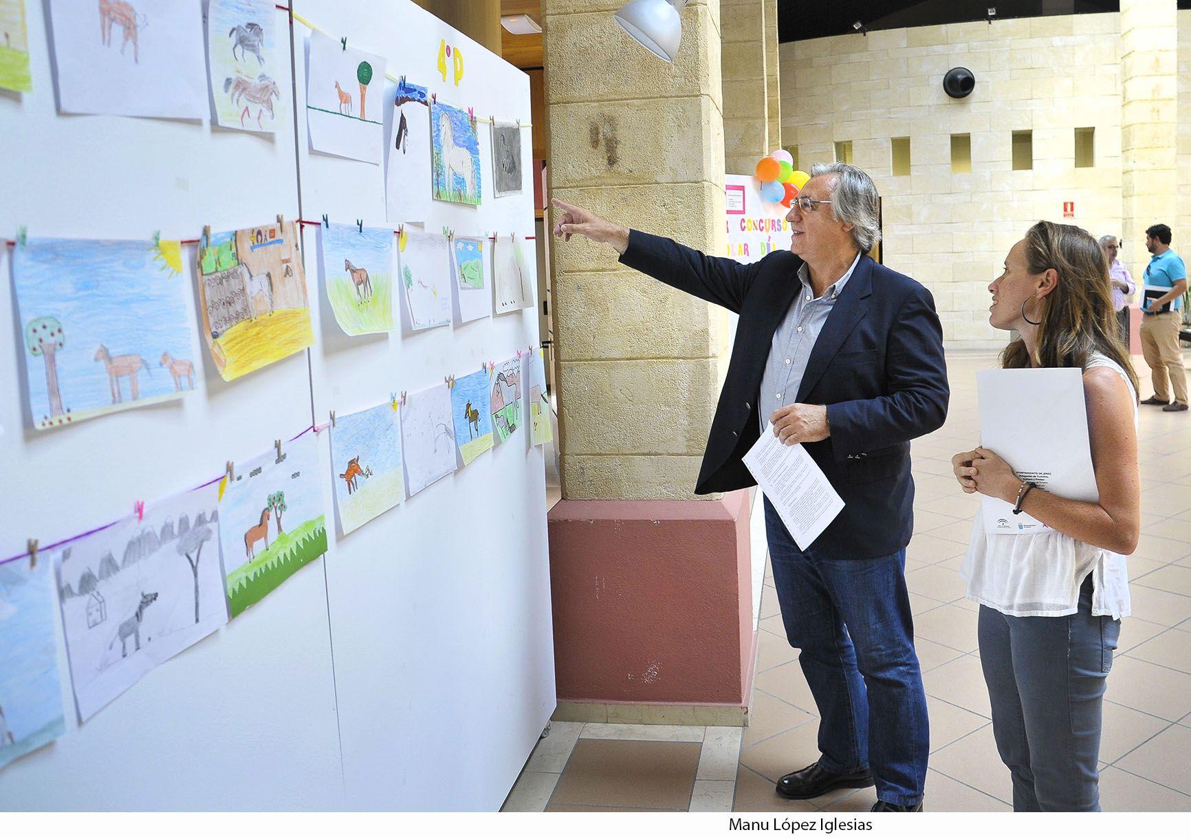 Fco Camas y Laura Alvarez en expo concurso escolar _ Dia Europeo del Caballo