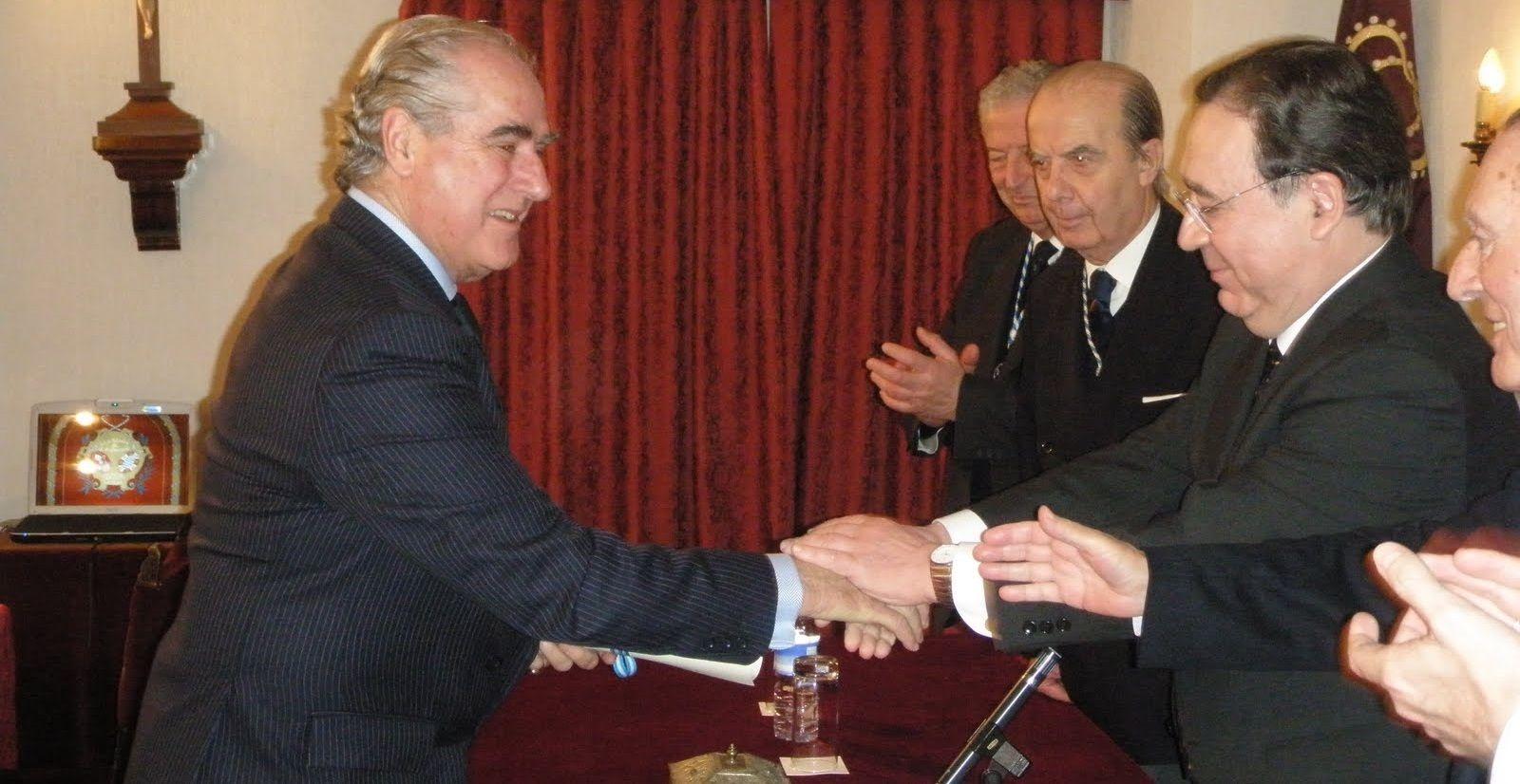 Imagen del acto de ingreso como Académico Numerario de Manuel Domecq Zurita en la Academia San Dionisio deCiencias, Artes y Letras el 20 de Junio de 2010