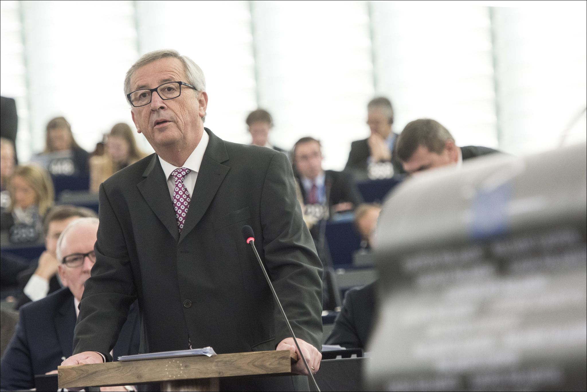 Jean-Claude Juncker en una imagen en el atril. Flickr