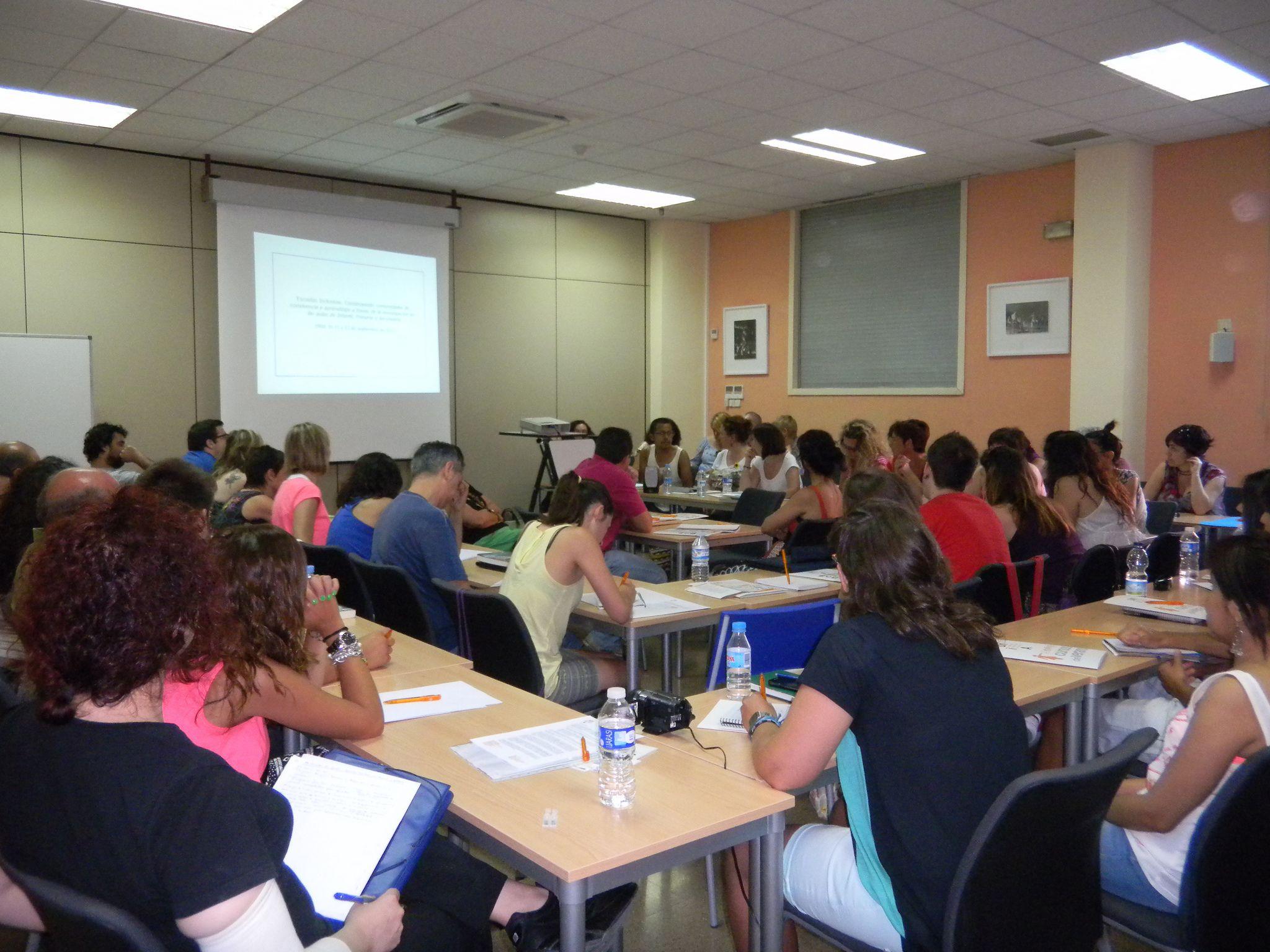 Alumnos recibiendo clase. Flickr