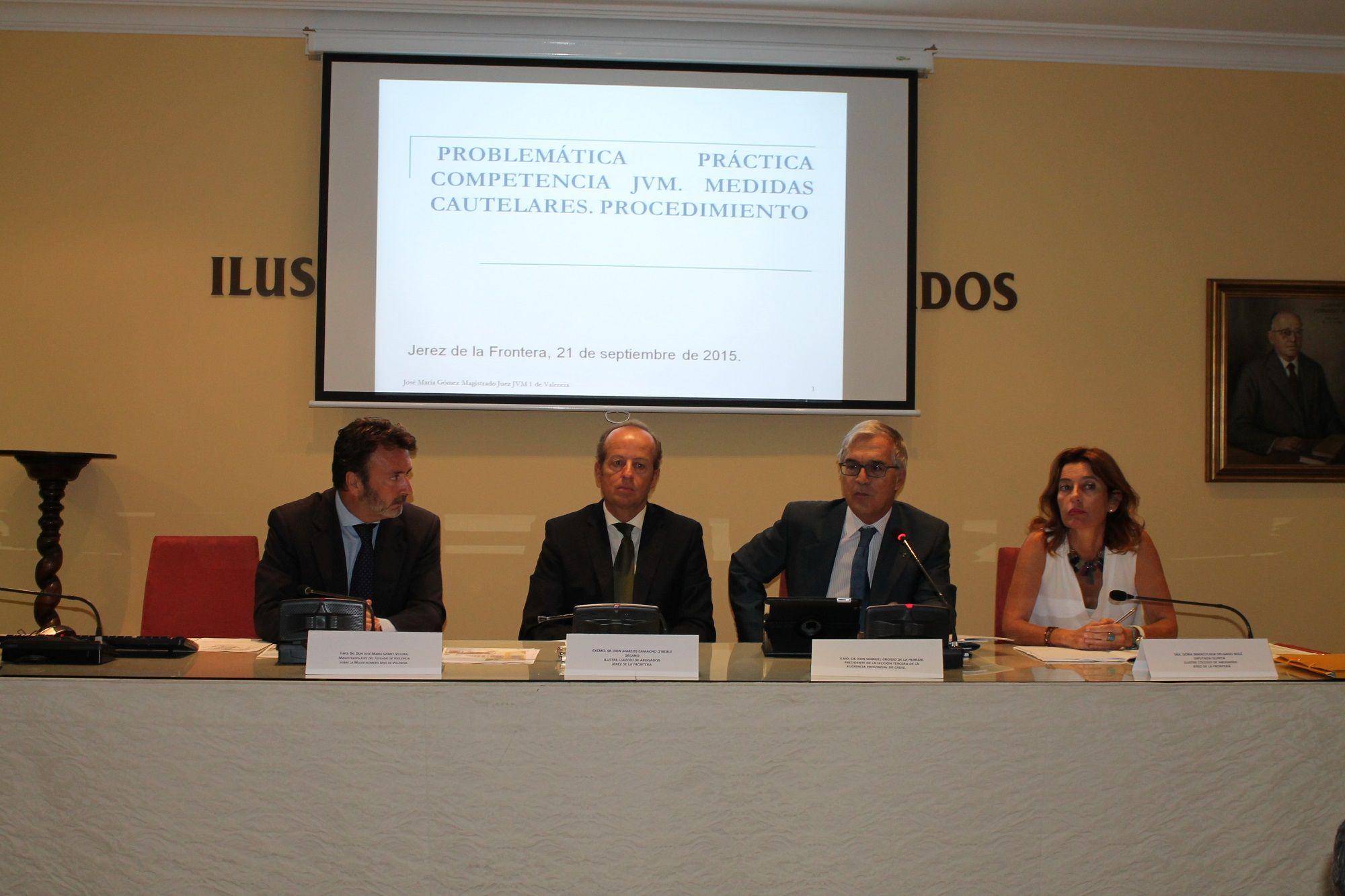 Ponentes en el Ilustre Colegio de Abogados de Jerez. Icabjerez