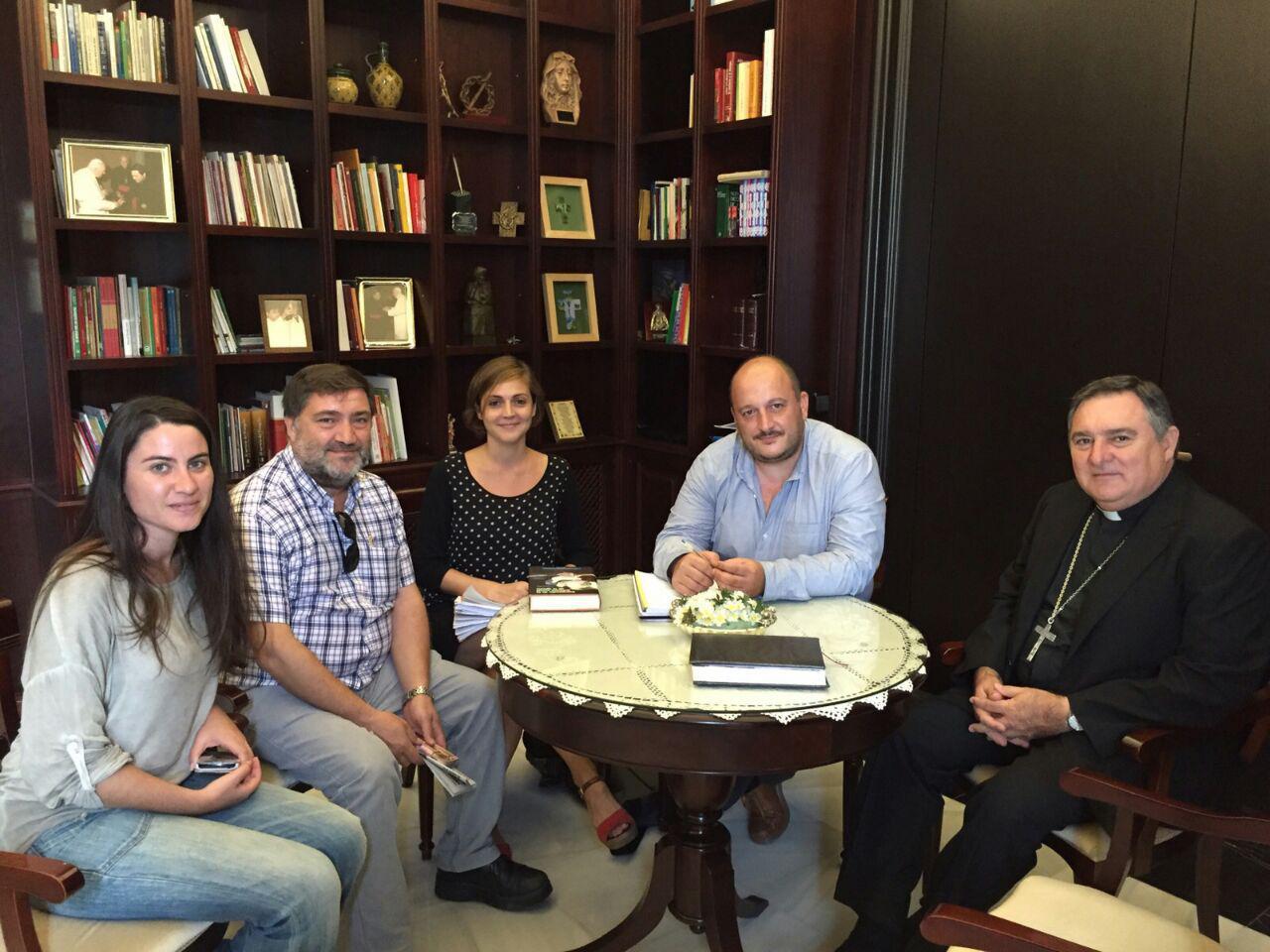Encuentro en la sede del Obispado entre la formación local de IU y Monseñor Mazuelos Pérez. IUJerez