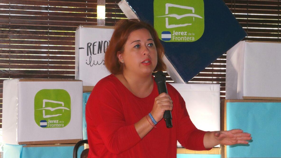 Lidia Menacho durante su intervención. MIRA Jerez