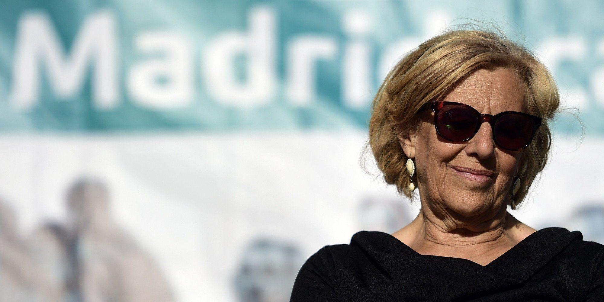 Manuela Carmena, 20 Mayo 2015.   AFP PHOTO/ GERARD JULIEN