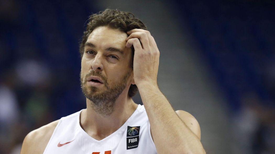 Pau Gasol durante el Eurobasket disputado en Francia.