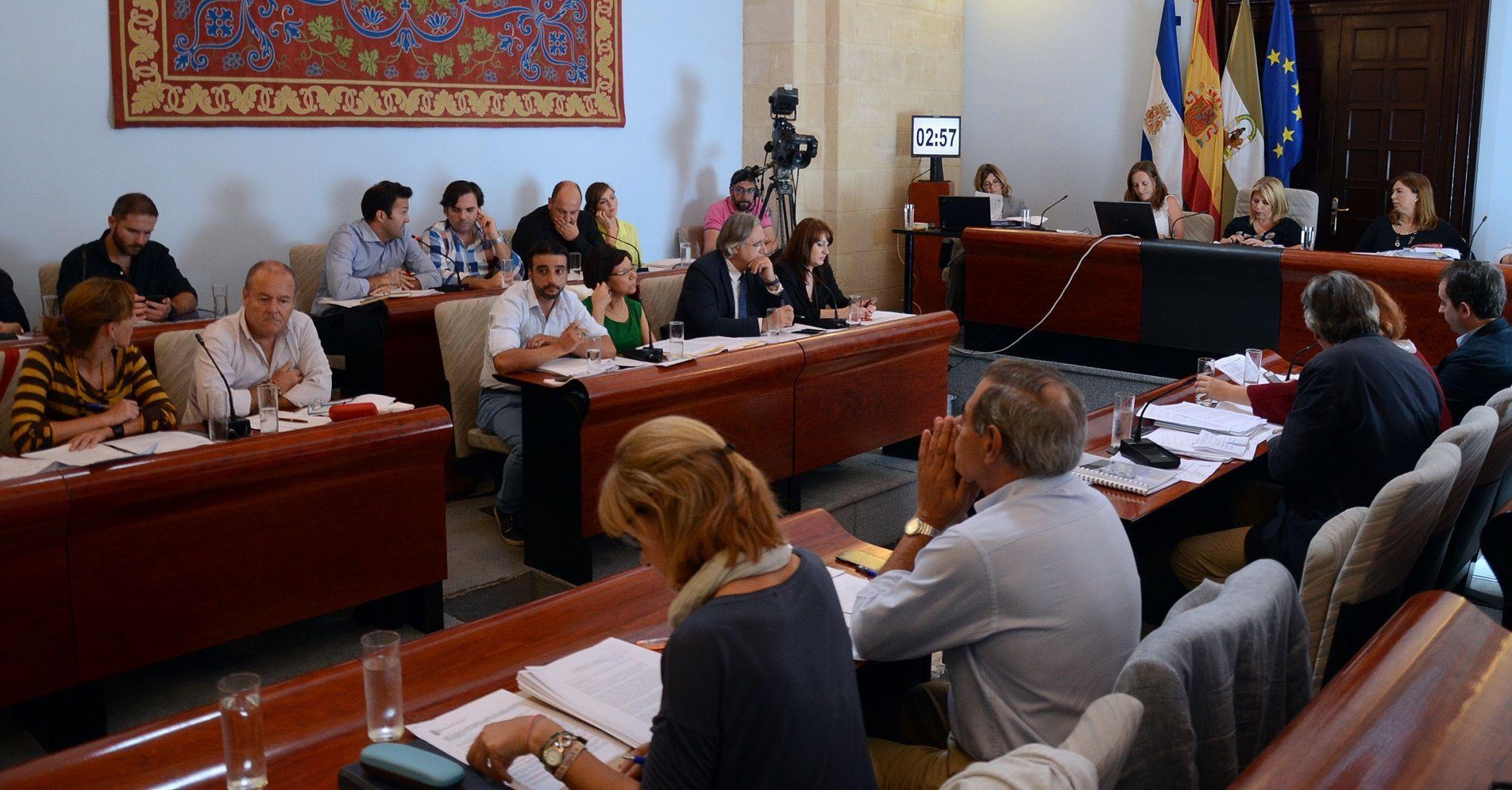 Imagen del Pleno del Ayuntamiento en la mañana de hoy.