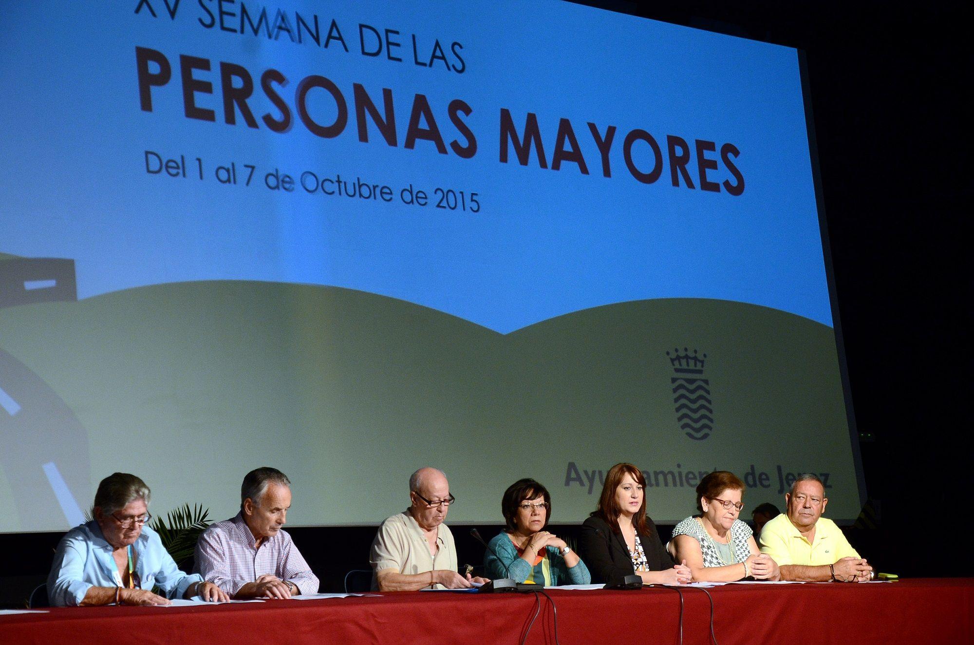 Ponentes en la XV Semana de las Personas Mayores.
