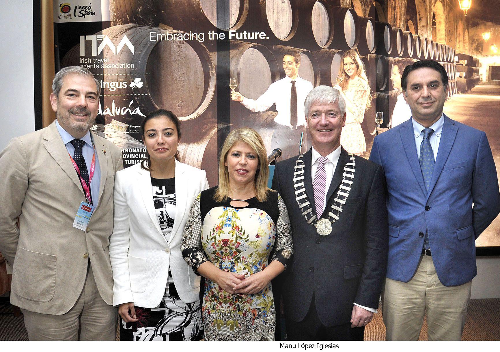 Mamen Sánchez en la inauguración del congreso de la Asociación de Agencias de Viajes de Irlanda