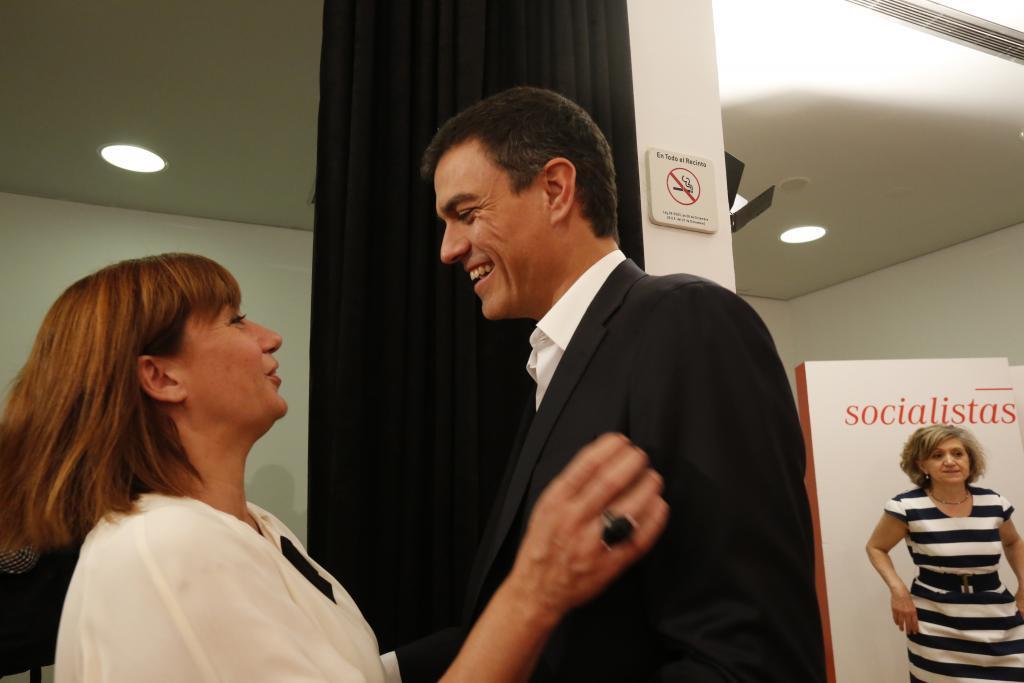 Francina Armengol y Pedro Sánchez.