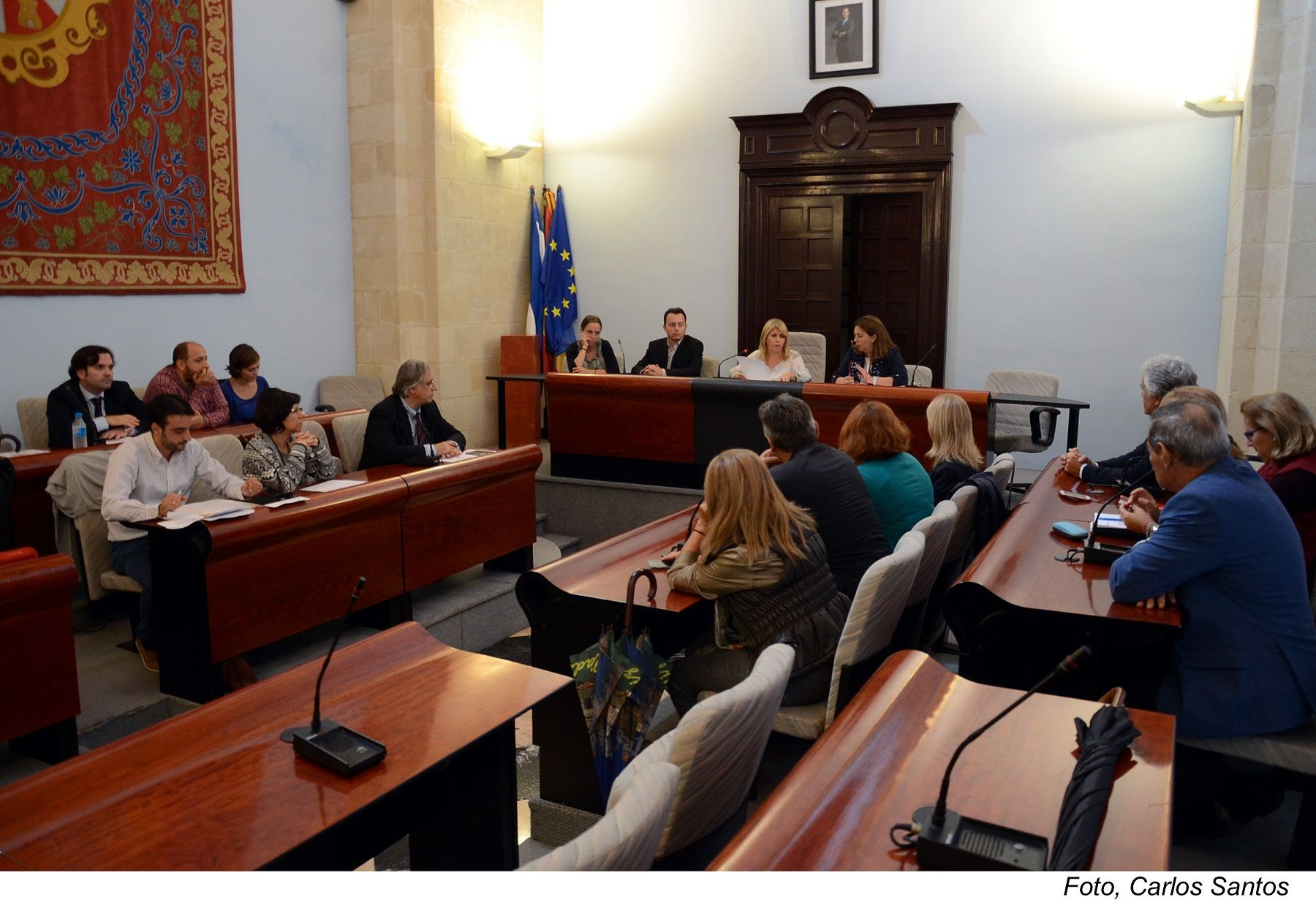 Imagen del Pleno municipal en el Ayuntamiento de Jerez.