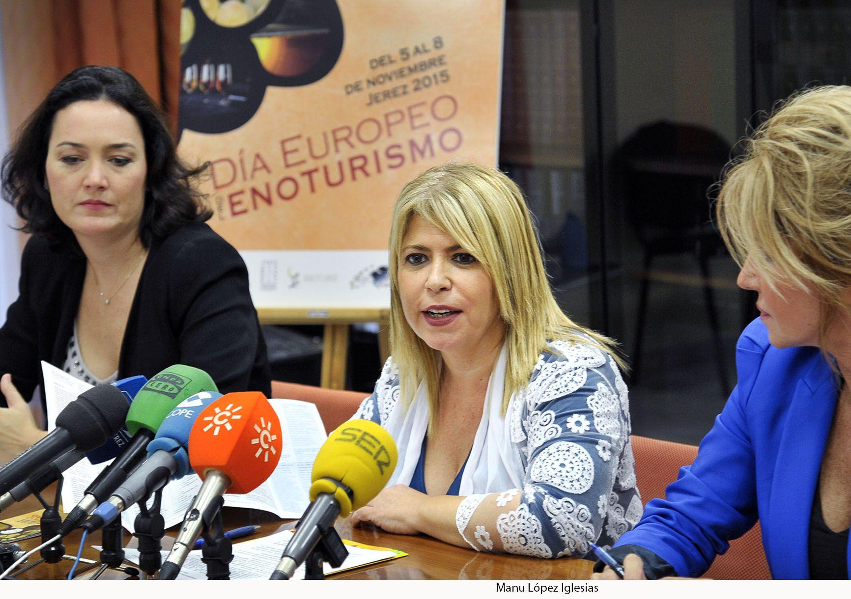 Mamen Sánchez presentando el Día Europeo del Enoturismo.