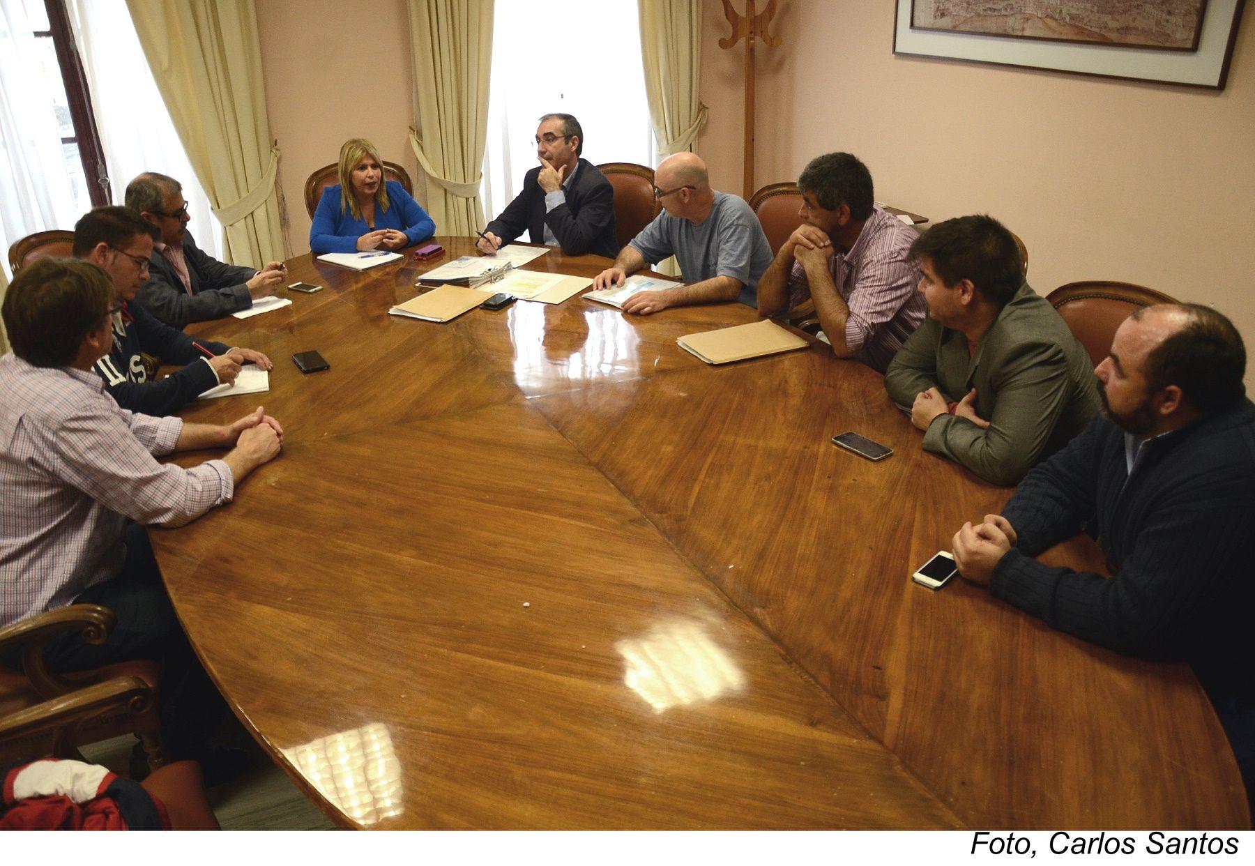 Mamen Sánchez recibe a Asunico en el Ayuntamiento de Jerez.