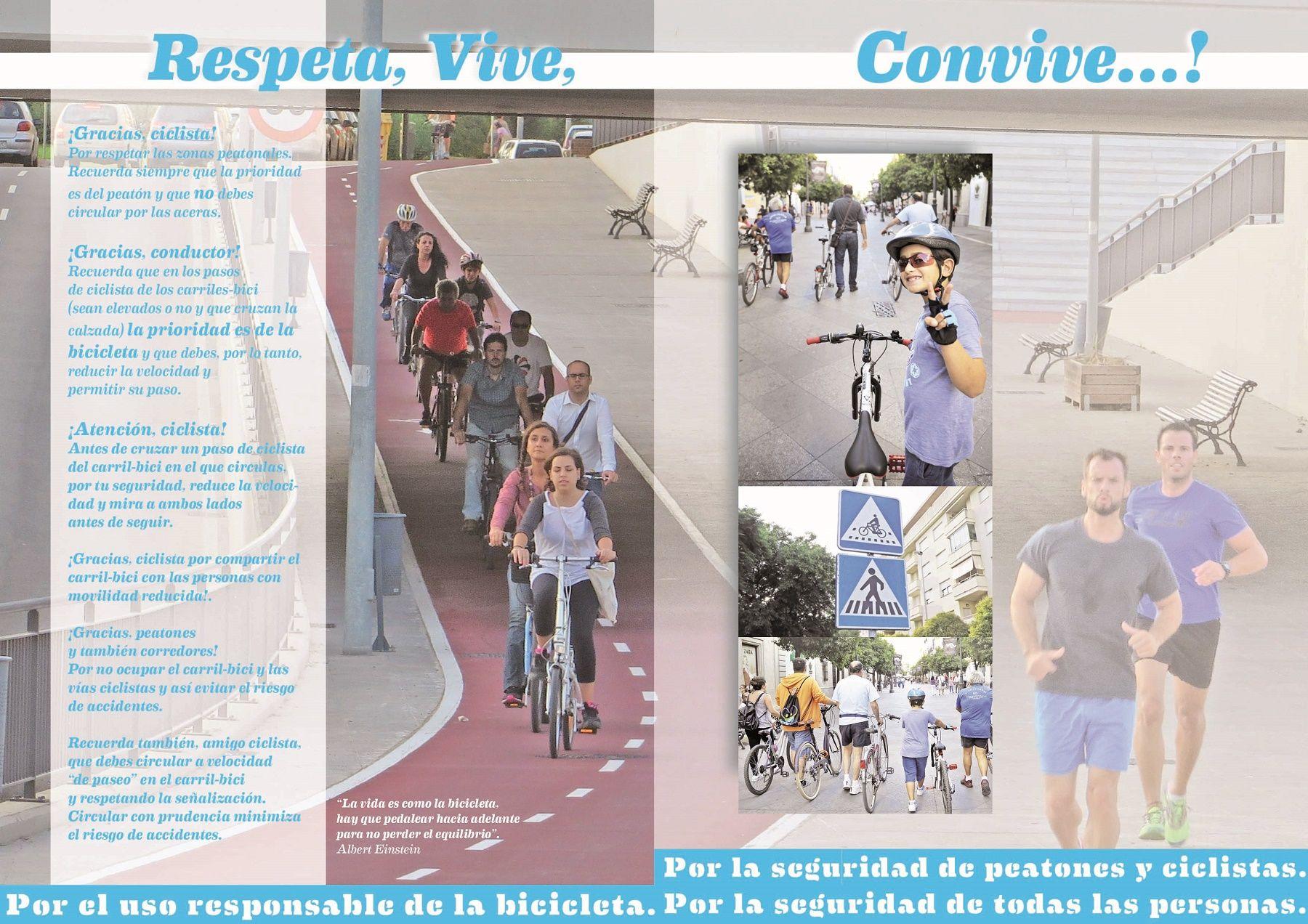 Díptico Respeta, vive, convive con portada nueva (más cambio