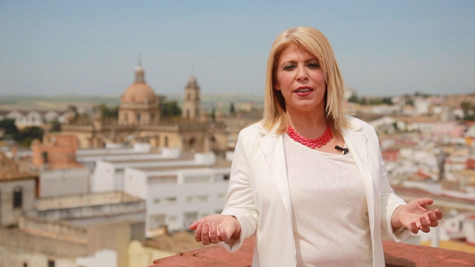 Imagen de Mamen Sánchez de su campaña electoral en Mayo de 2015