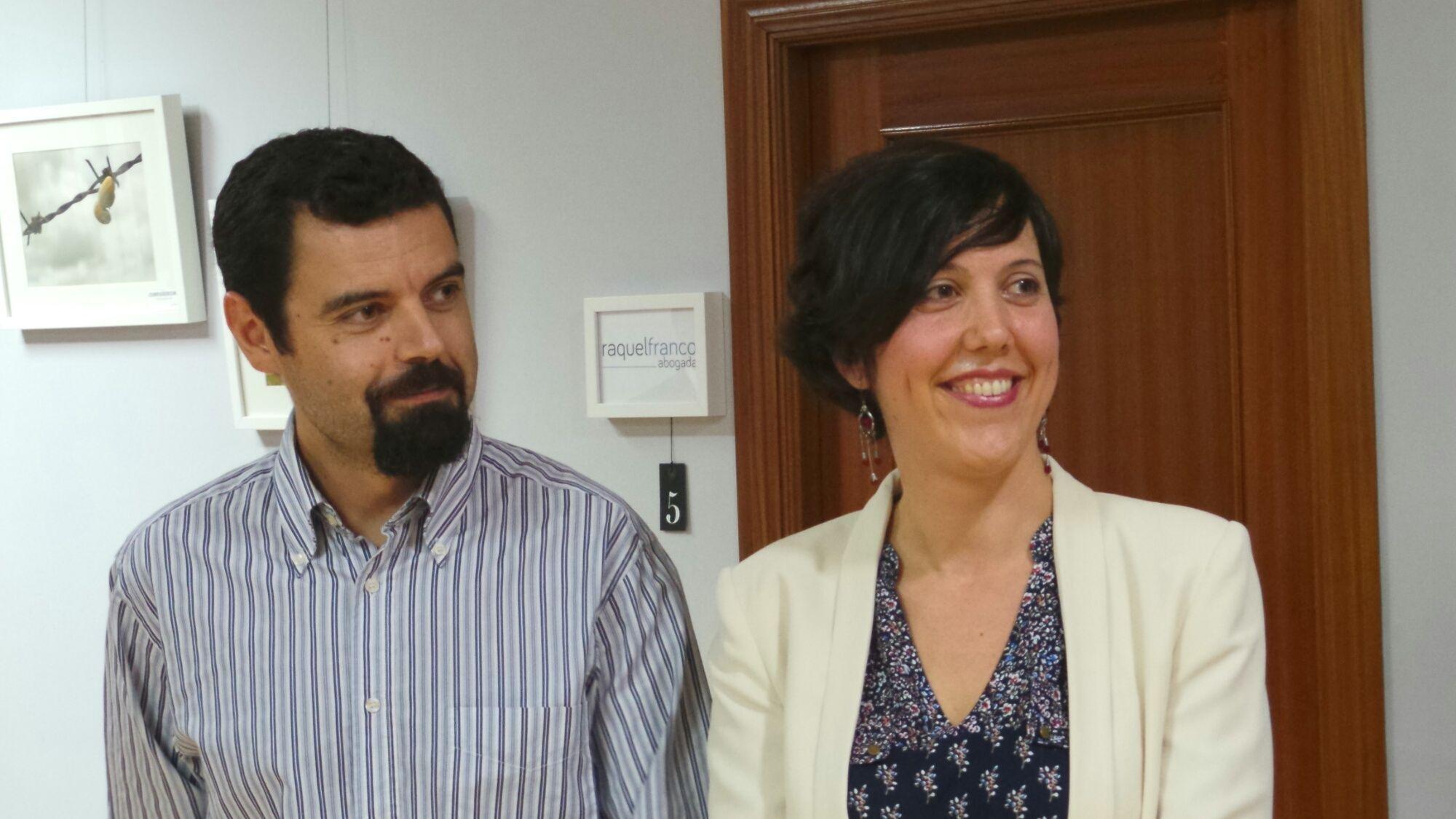 Jorge García y Noelia Herrera, de Jonocla, presentaron la expocición 'Natura'