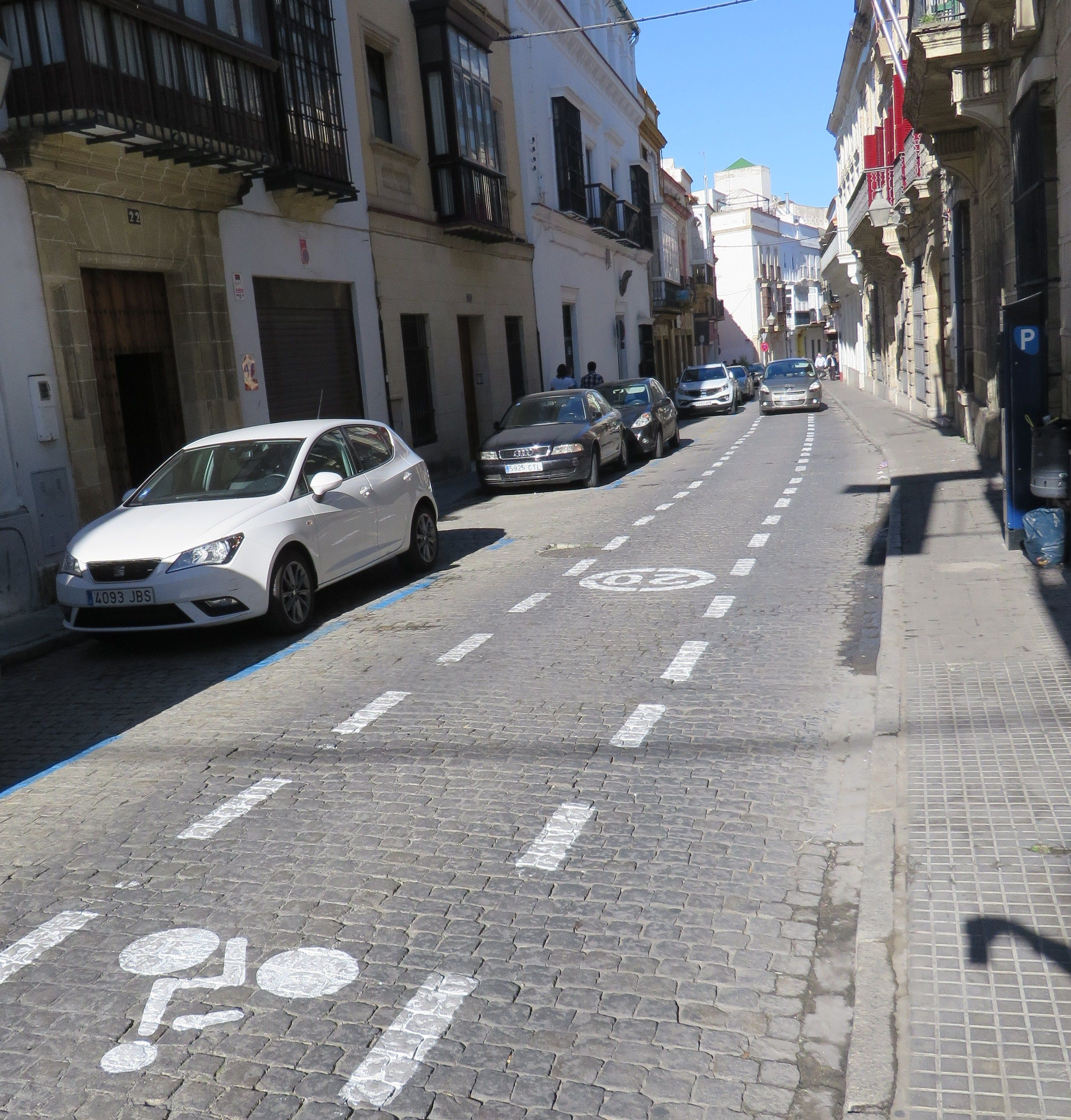 calle Caballeros ciclable