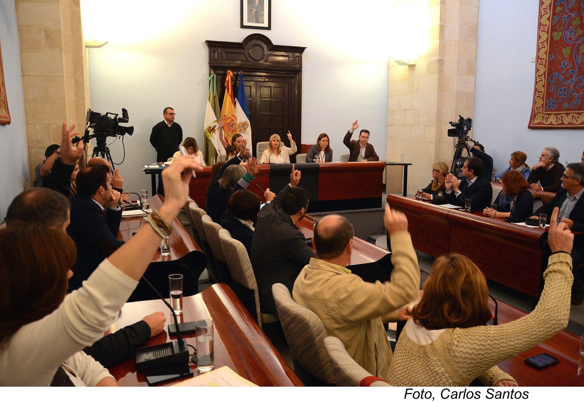 Pleno extraordinario celebrado esta mañana en el Ayuntamiento de Jerez.