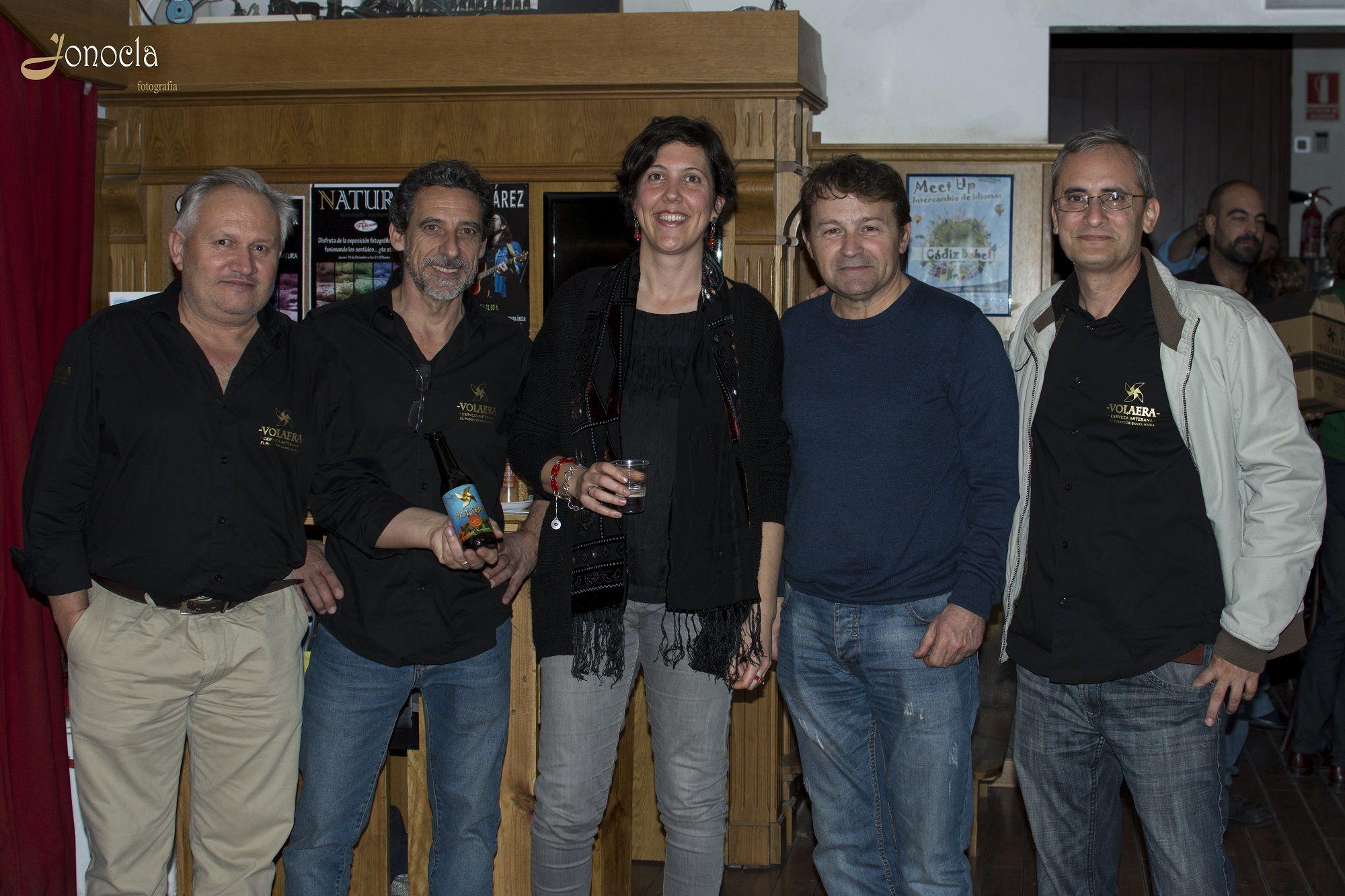 Manuel Comino (VOLAERA), Cristóbal Pérez (VOLAERA), Noelia Herrera (JONOCLA FOTOGRAFÍA), Iñaki Xalabarde (BULERI) y José Manuel Quetal (VOLAERA)