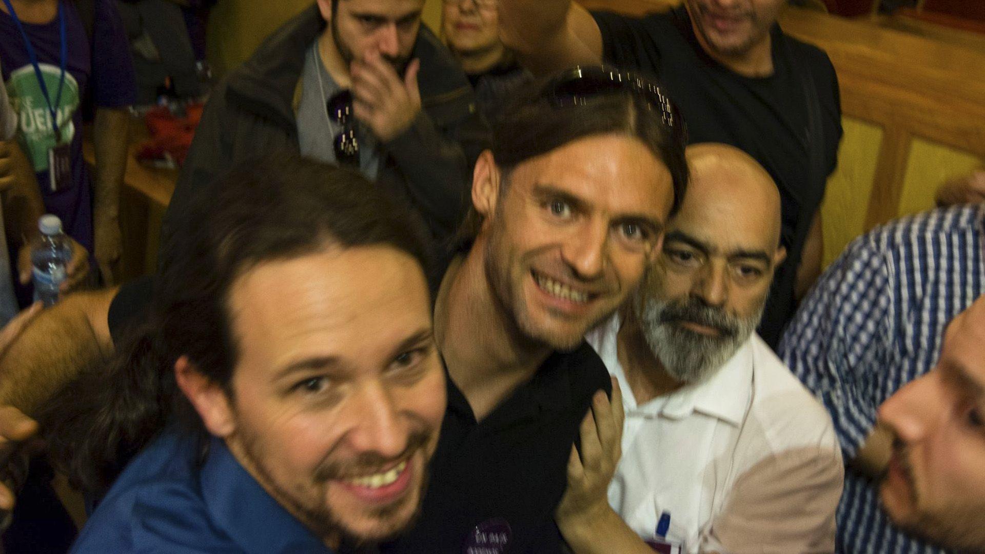 Jose Ramon Galindo 4 con Pablo Iglesias - Podemos