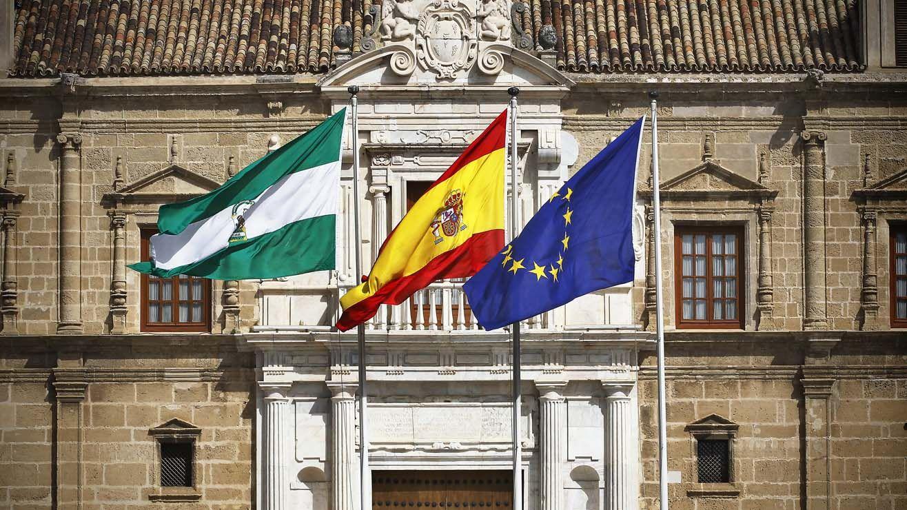 SEVILLA. 23-MARZO-2012. FACHADA DEL PARLAMENTO DE ANDALUCIA. FOTO: RAUL DOBLADO. ARCHSEV RAUL DOBLADO