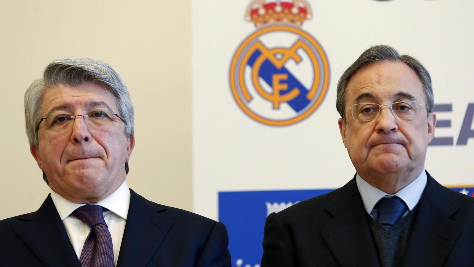 Imagen de Enrique Cerezo y Florentino Pérez. EFE