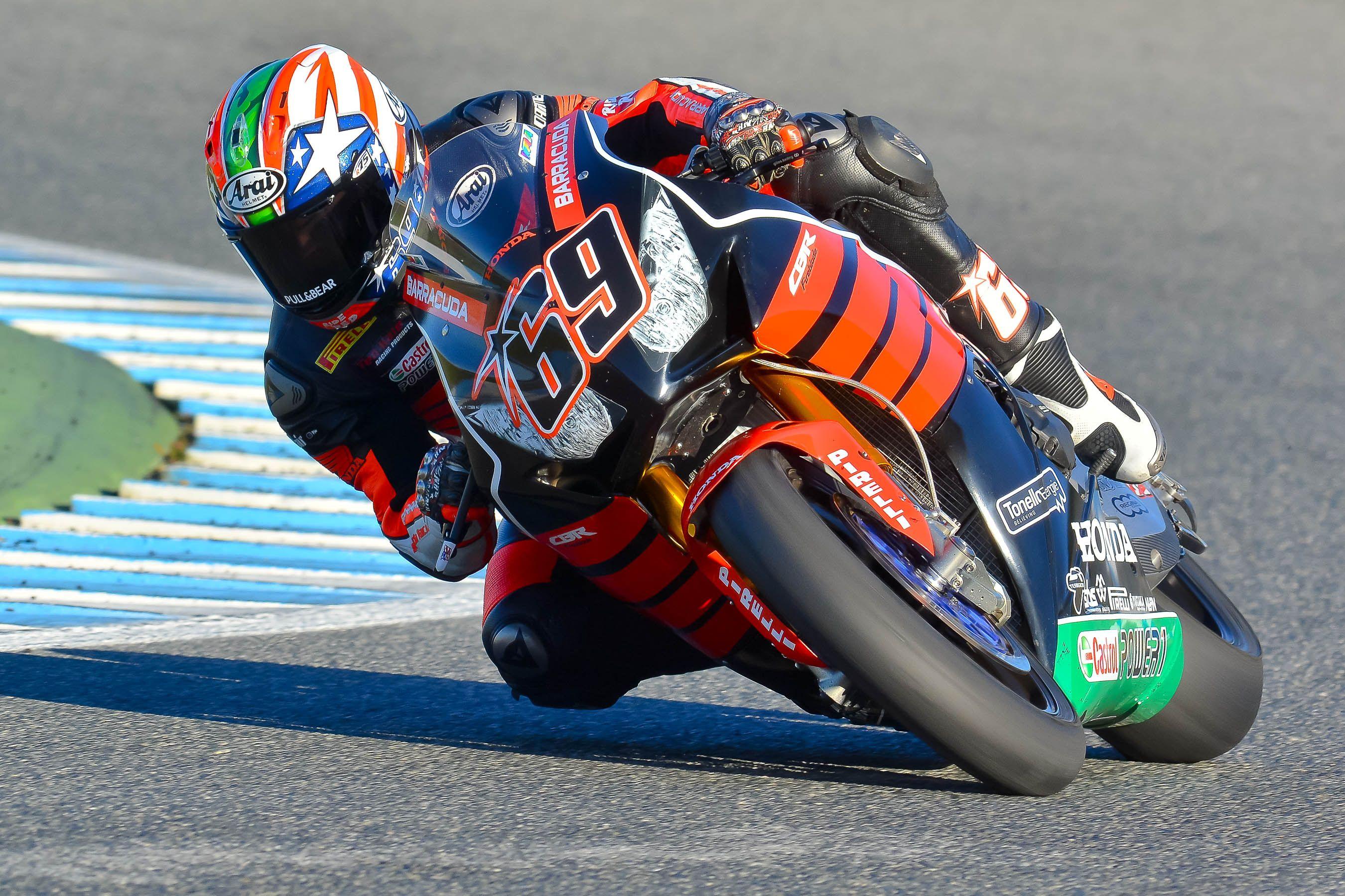 El americano Nicky Hayden, durante los pasados test de noviembre en Jerez estrenando su Honda de SBK
