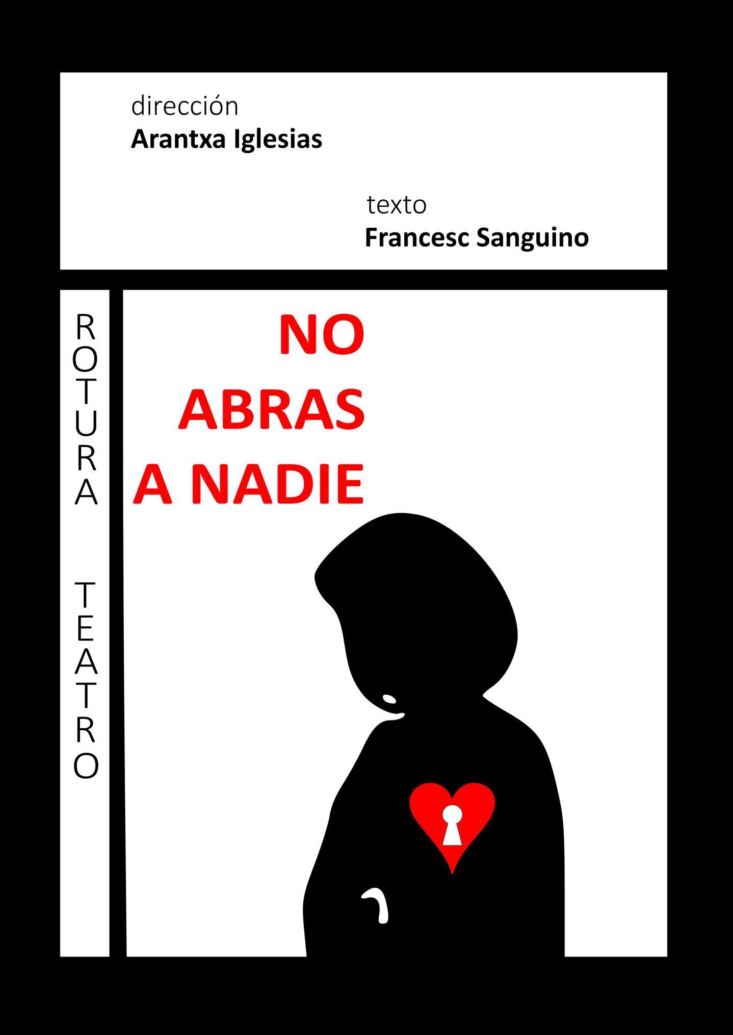 Cartel de No abras a Nadie