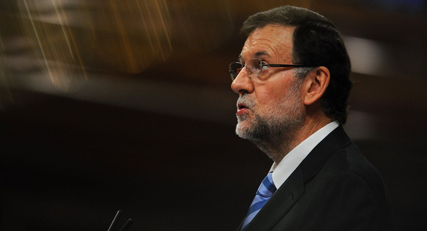 MADRID, SPAIN - OCTOBER 30:  Spanish Prime Minister Mariano Rajoy addresses the parliament about alleged mass U.S. eavesdropping on millions of Spanish citizens' phones on October 30, 2013 in Madrid, Spain. Spain's public prosecutor opened a preliminary investigation yesterday to see if the U.S. broke the law with their alleged National Security Agency (NSA) eavesdropping.  (Photo by Denis Doyle/Getty Images)