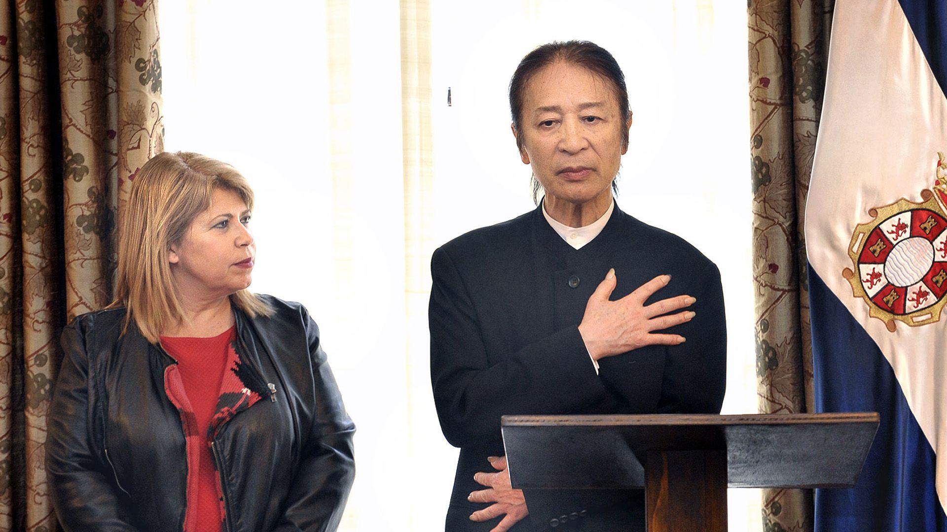 Mamen Sánchez, Alcaldesa de Jerez, ha recibido al bailaor japonés Shoji Kojima | Manu López