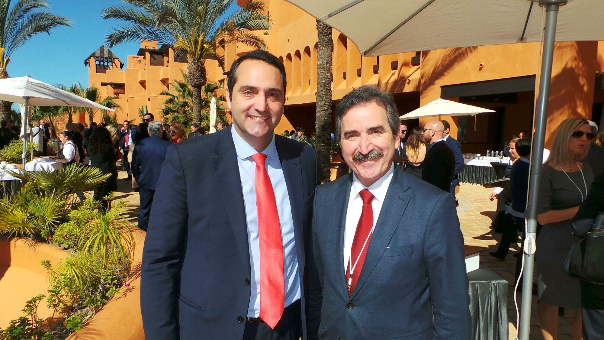 Curro Ávalos, ponente en la Convención, junto a Eduardo Aparcero, presidente de GICA | MIRA Comunicación