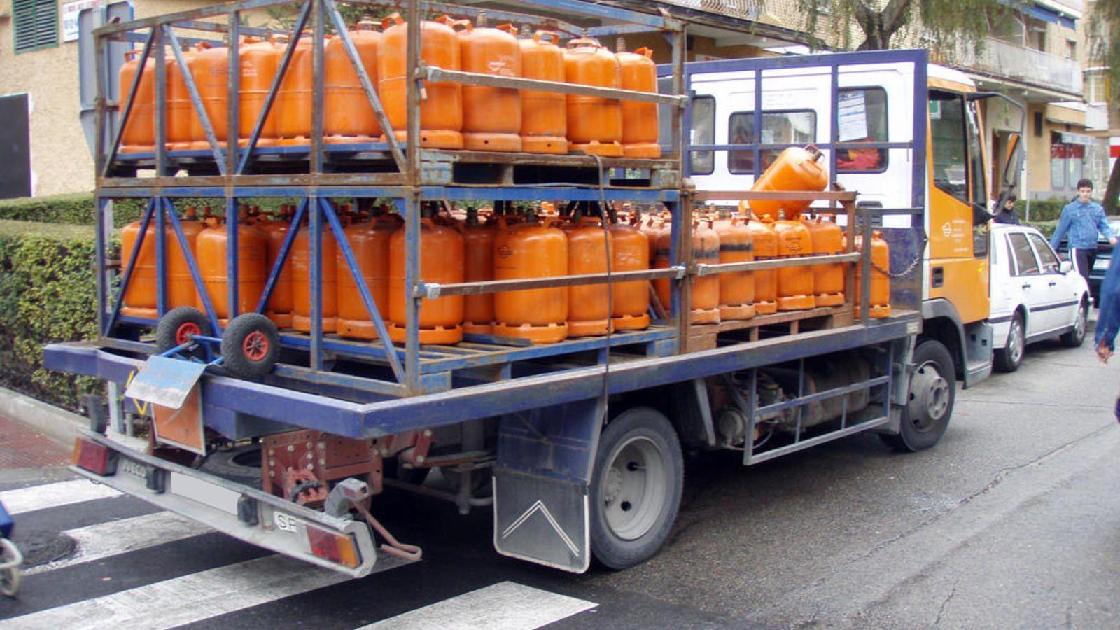 camion bombonas butano