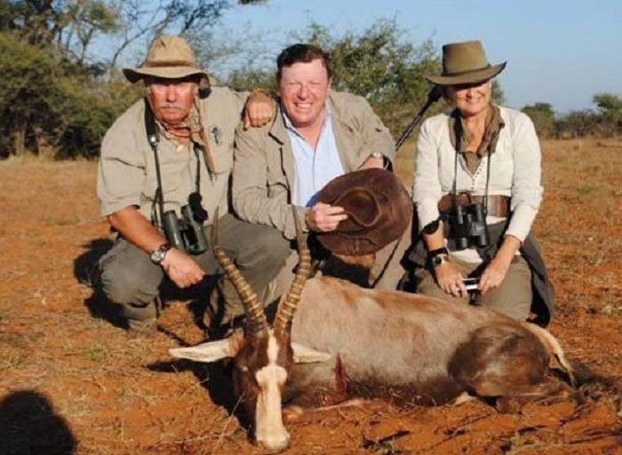César Cadaval en una foto de otro safari