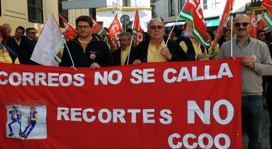 ManifestacionCorreos Jerez-28-03-2016