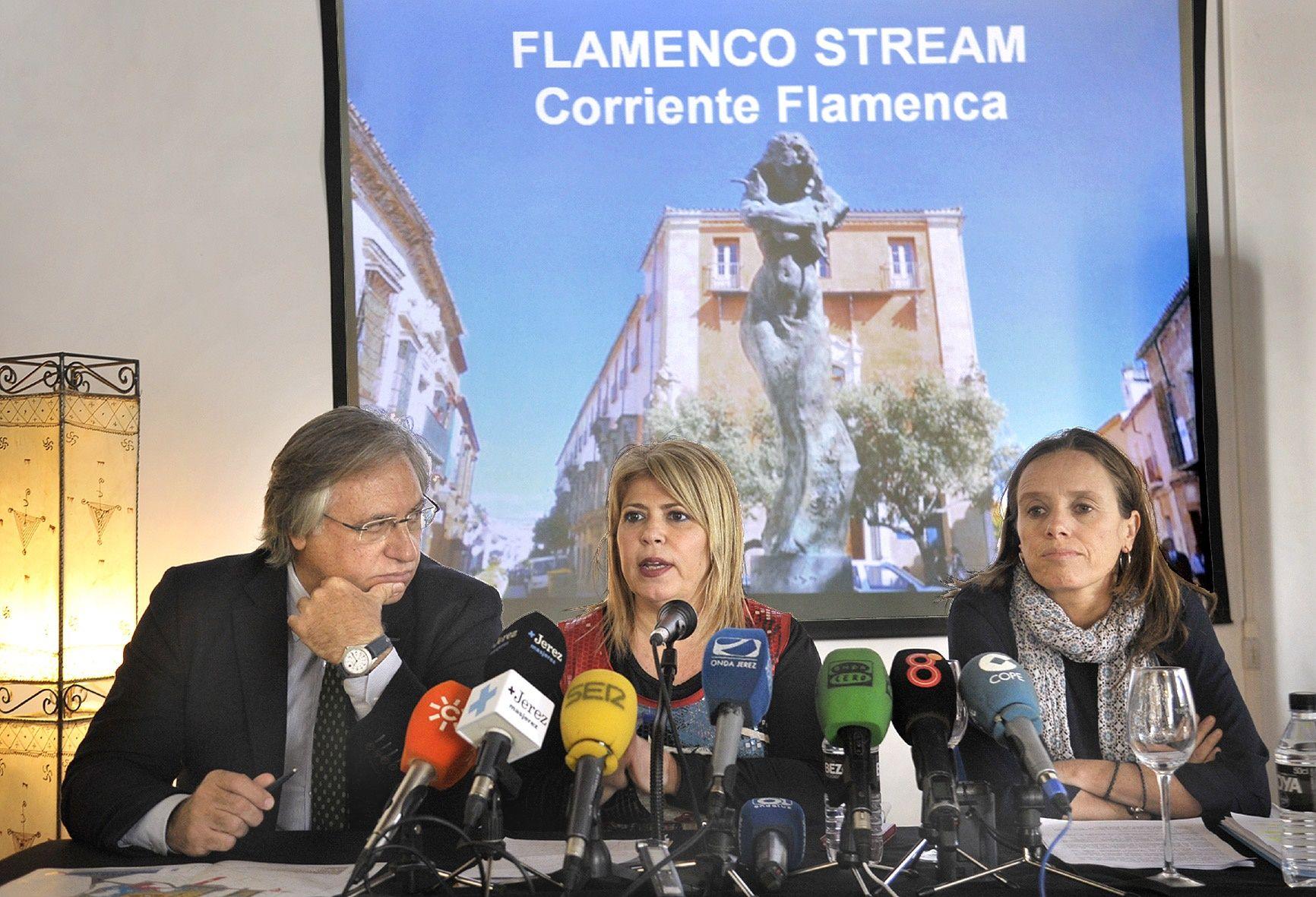 Alcaldesa pres proyecto Flamenco Stream