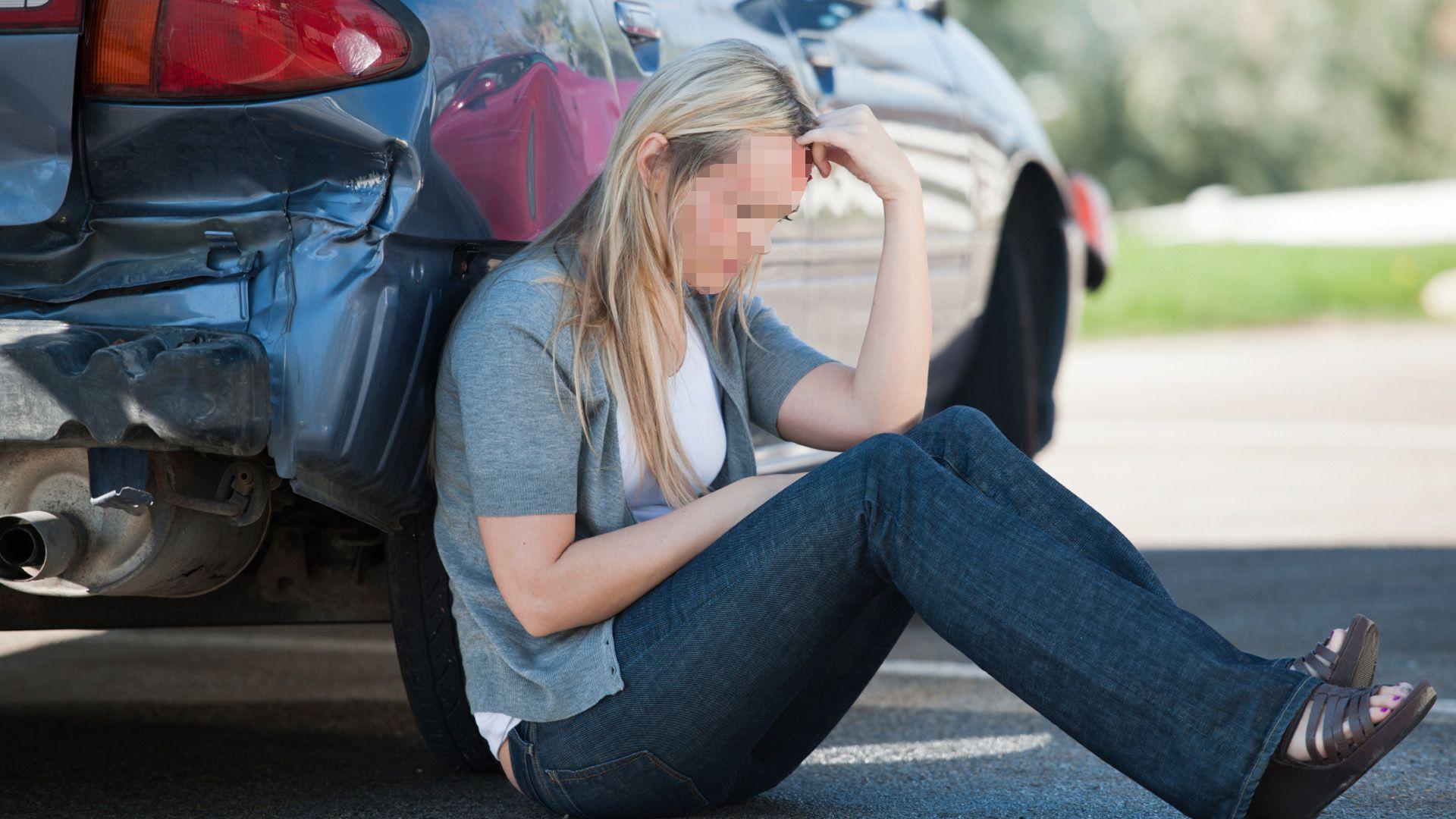 accidente coche mujer