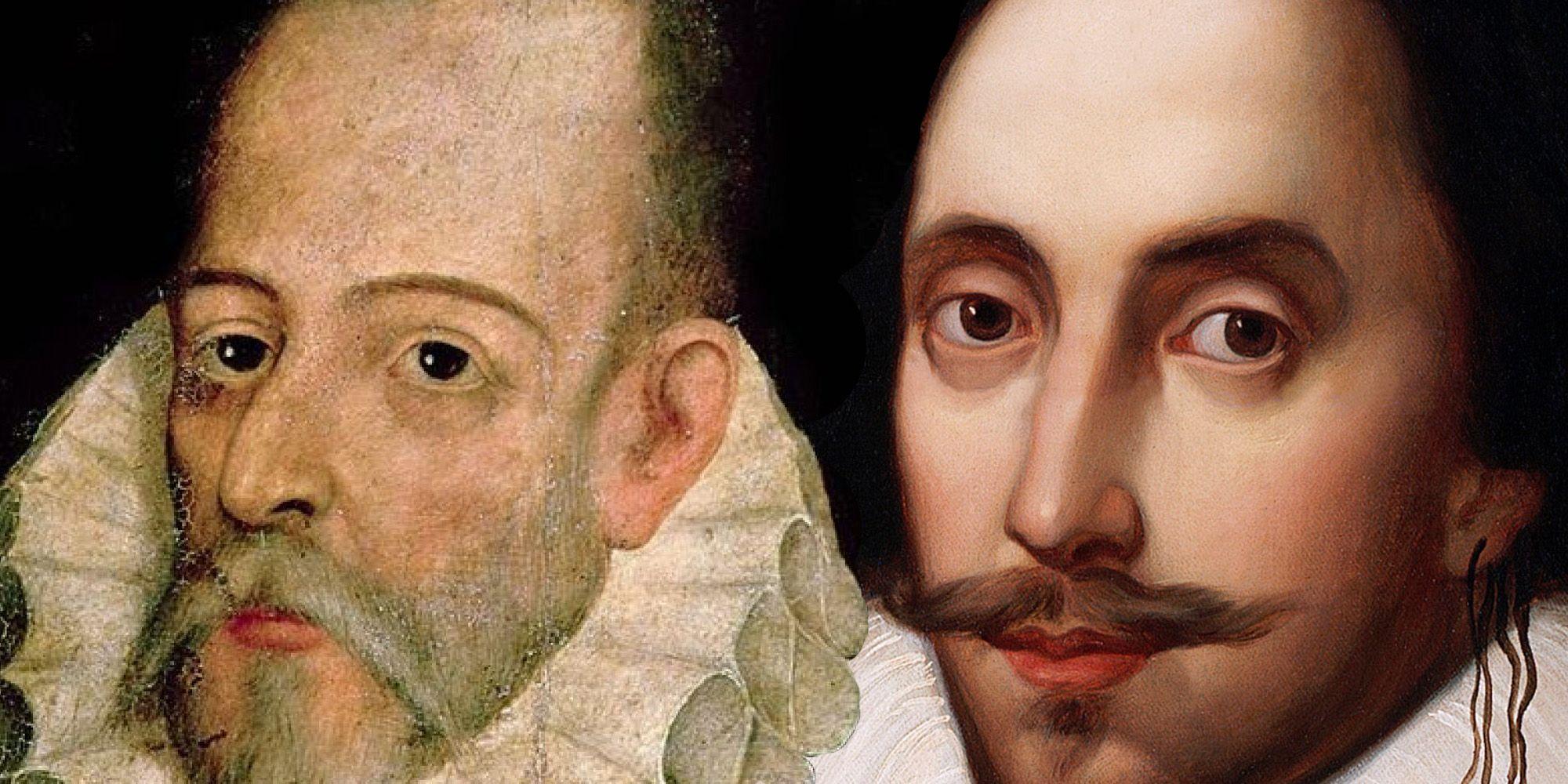 Miguel de Cervantes y William Shakespeare | Imagen simulada por MIRA Comunicación