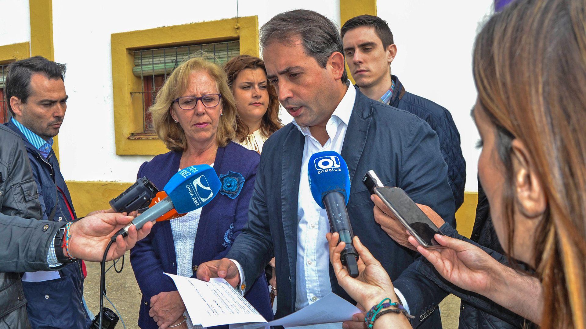 Antonio Saldaña, parlamentario andaluz por el Partido Popular, en rueda de Prensa | Pablo Illanas para MIRA Jerez