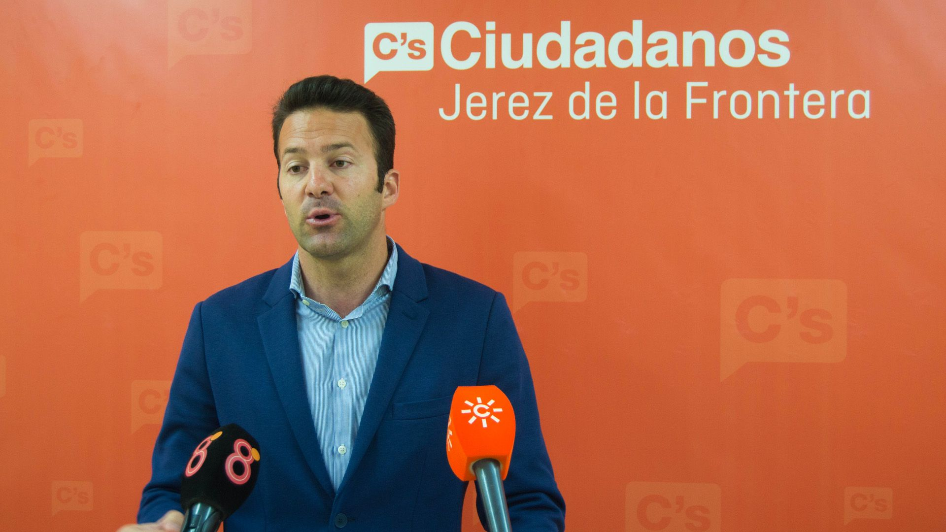 Carlos Pérez, portavoz del Grupo municipal de Ciudadanos Jerez | Imagen de Pablo Illanas para MIRA Jerez